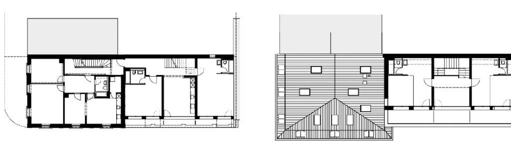 1. und 5. Obergeschoss © Architekturbüro Vera Gloor
