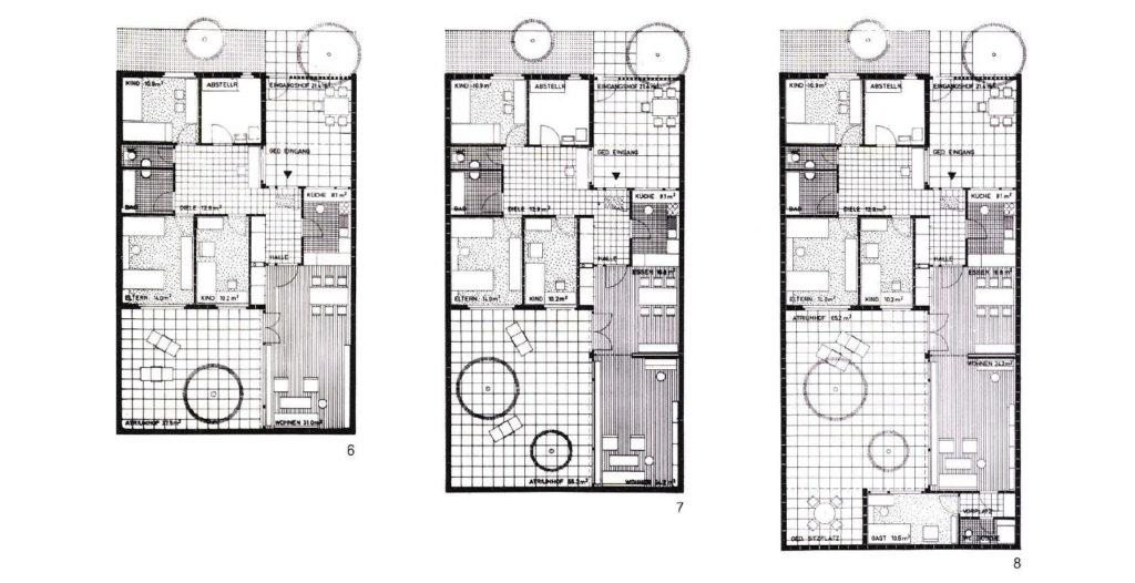 """Siedlung """"Mühleboden"""" in Therwil: Grundrisstypen © Löw & Manz"""
