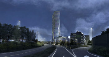 Visualisierung Spenglerpark Hochhaus © Harry Gugger Studio
