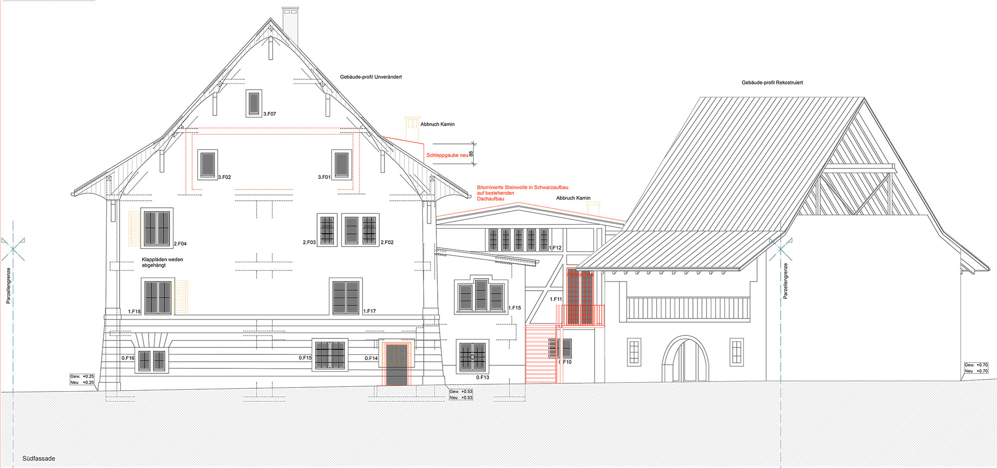 Ensemble aus ehemaligem Gasthof und Scheune © Bonauer Architekten AG