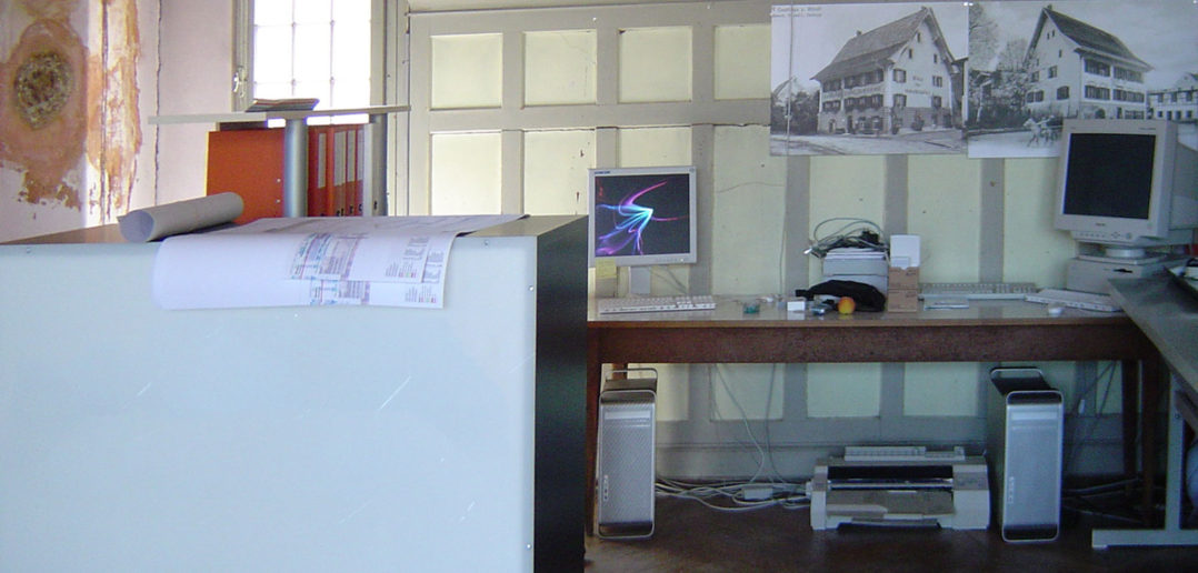 Das temporäre Architekturbüro im historischen Himmelsaal © Bonauer Architekten AG