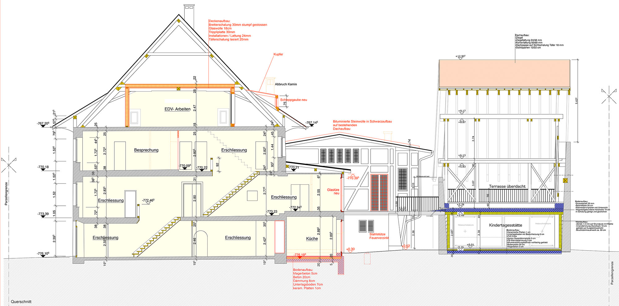 Eingriffe im Querschnitt © Bonauer Architekten AG