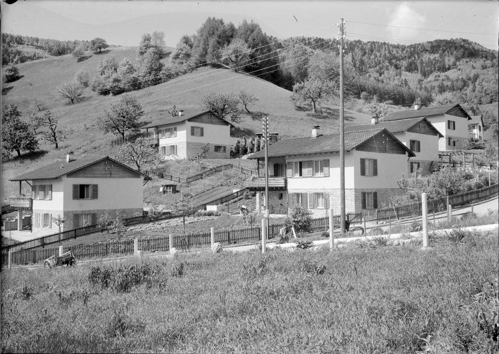 Waldenburg, Wohnkolonie Schanz (1948) STABL_PA_6292_01_782, Seiler Arnold Senior (1864-1927) und Junior (1892-1978), Liestal, Fotosammlung, Staatsarchiv Basel-Landschaft, Foto: Arnold Seiler-Rudin