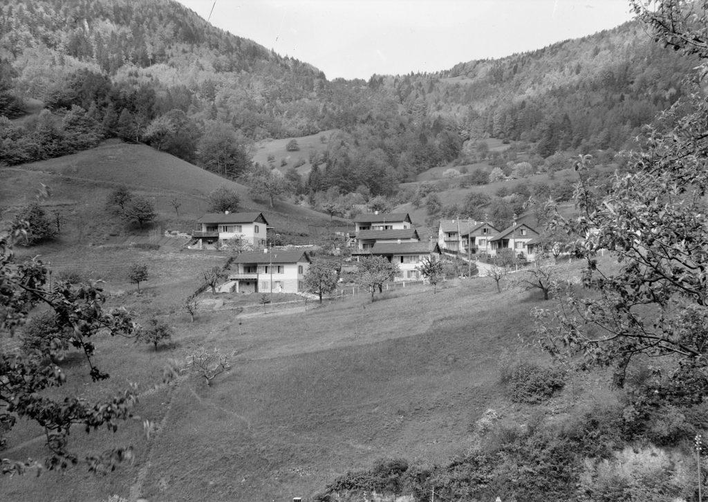 Waldenburg, Wohnkolonie Schanz (1948) STABL_PA_6292_01_784, Seiler Arnold Senior (1864-1927) und Junior (1892-1978), Liestal, Fotosammlung, Staatsarchiv Basel-Landschaft, Foto: Arnold Seiler-Rudin