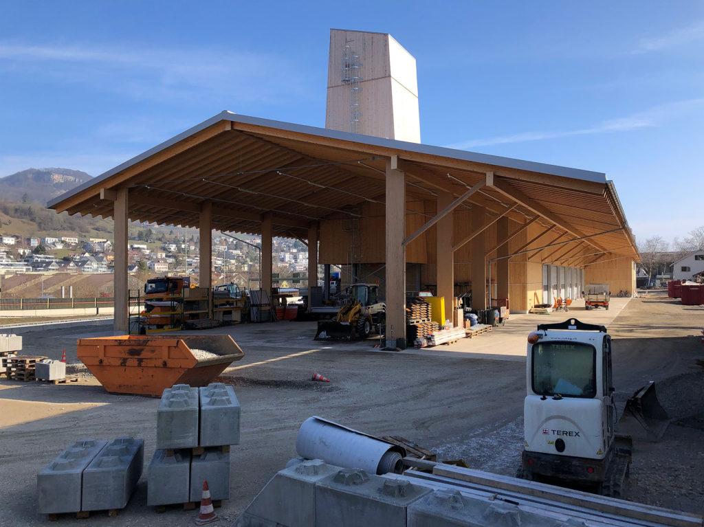 Werkhof Sissach, Aussenlager mit Salzsilo © VOSS Architects/ Ebeling Architekten
