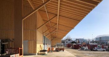 Werkhof Sissach, grosszügiges Vordach © VOSS Architects/ Ebeling Architekten