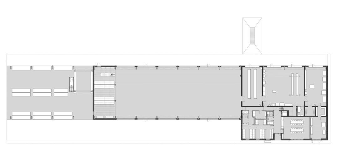 Werkhof Sissach, Grundriss Erdgeschoss © VOSS Architects/ Ebeling Architekten