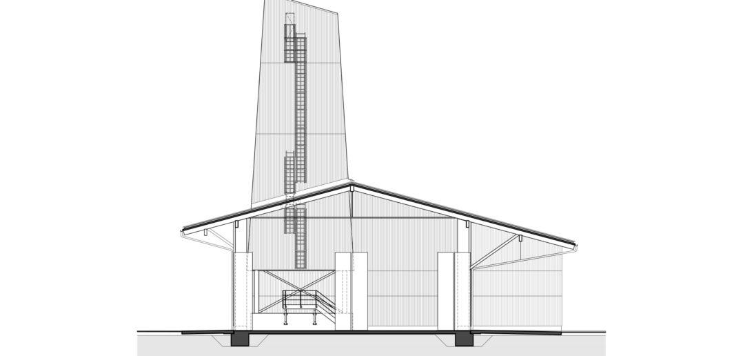 Werkhof Sissach, Querschnitt © VOSS Architects/ Ebeling Architekten