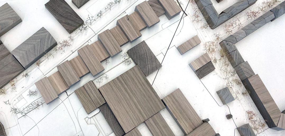 Viele Baukörper schaffen unterschiedliche Aussenräume © Architektur Basel