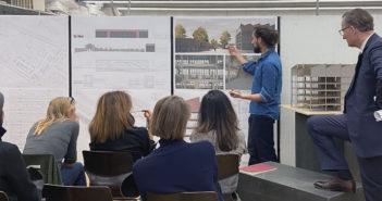 Die Präsentation der Masterthesis ist eine Diskussion unter Fachleuten © Architektur Basel