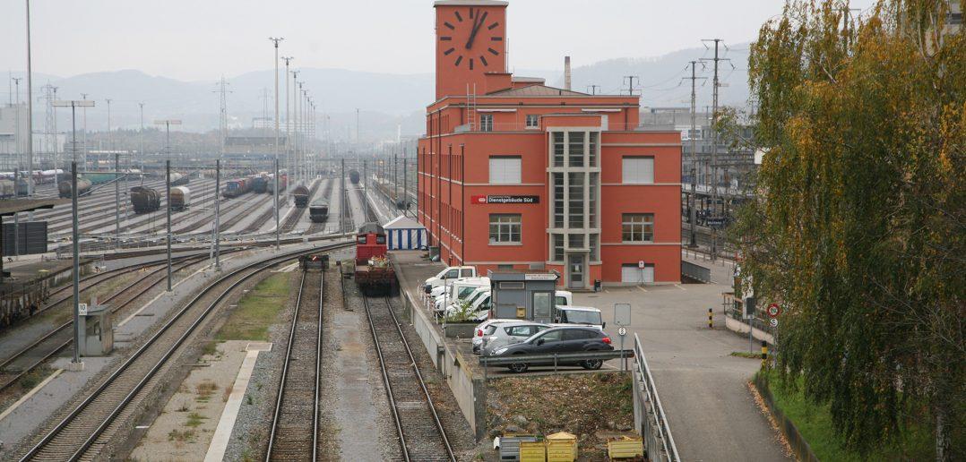Dienstgebäude Rangierbahnhof, Muttenz, ©2013 F. Becker