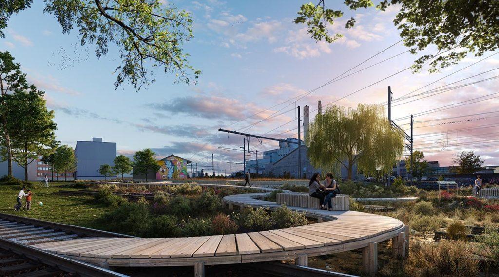 Im VoltaNord entstehen öffentliche Grünflächen und Naturräume auf mehr als 22'000 Quadratmetern und ein Quartierplatz von 4000 Quadratmetern Fläche. © Raumgleiter