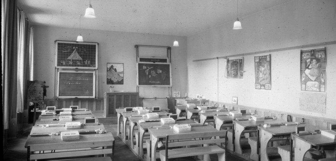 Blick in das Klassenzimmer © Archiv Siedlungsgenossenschaft Freidorf