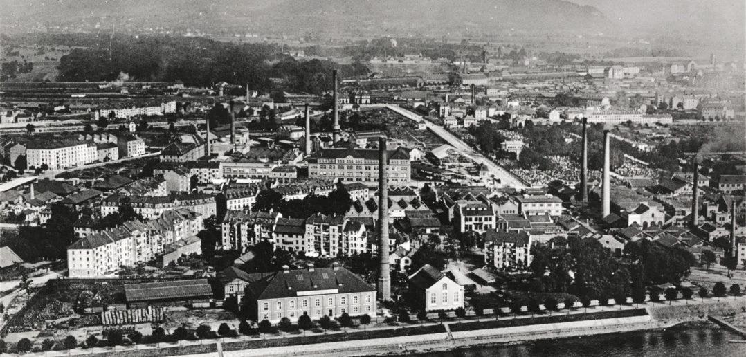 Das Klybeck zu Beginn des 20. Jahrhunderts © Walter Mittelholzer