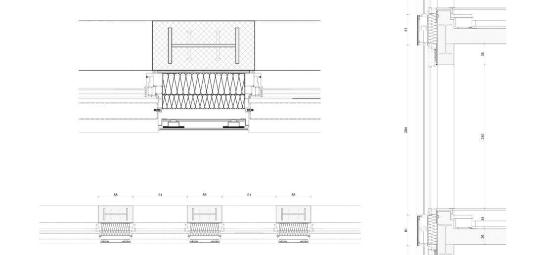 Details Fassadenkonstruktion Grosspeter Tower © Burckhardt+Partner AG