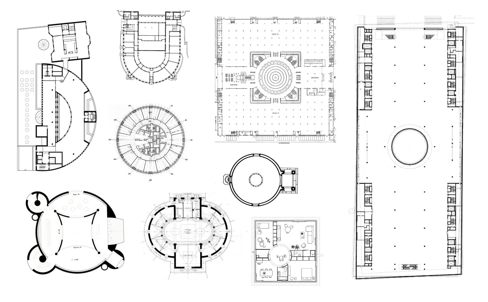 Der Kreis in der Basler Architektur © Collage Architektur Basel