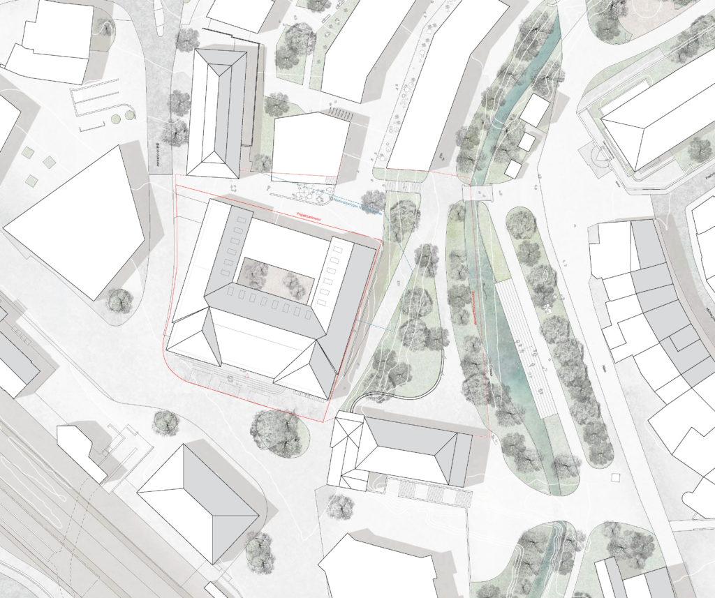 Situation / «LIBRA» © ARGE Stähelin Partner Architekten, Basel & Schwob Sutter Architekten, Liestal