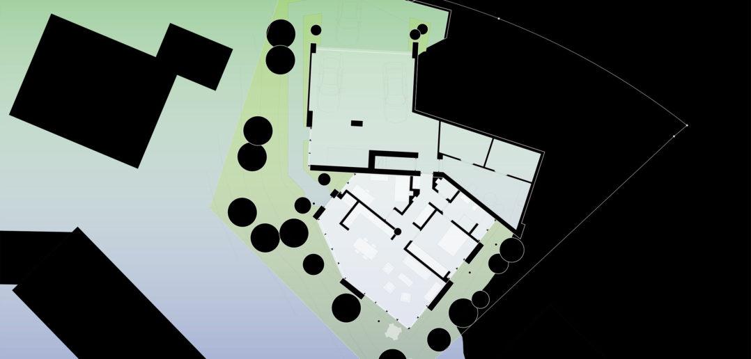 Zweite Wohnung im Untergeschoss © Notaton