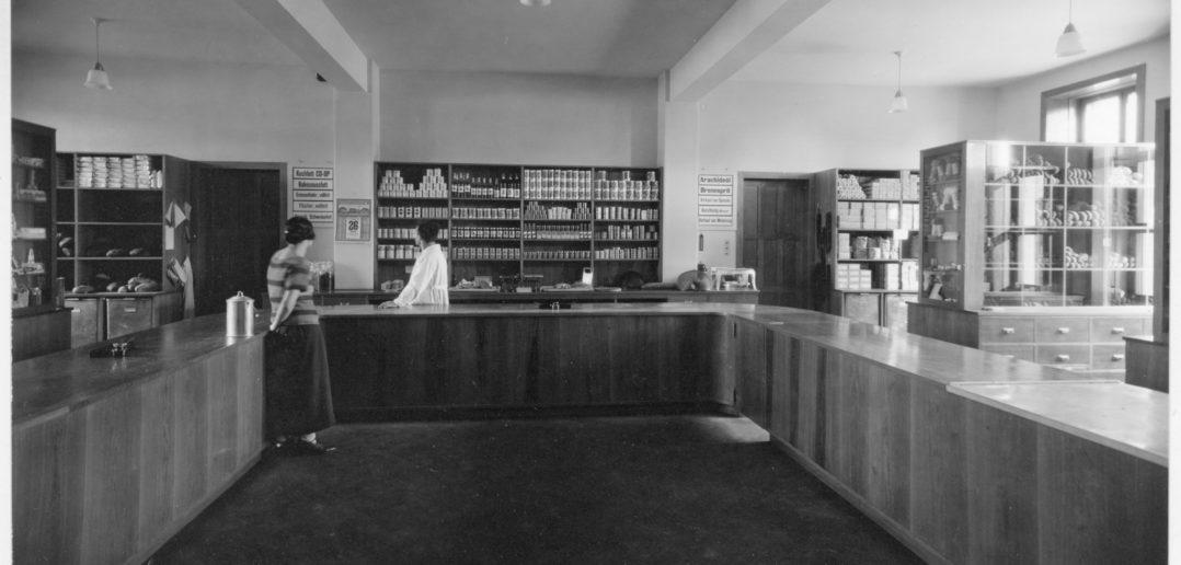 Laden im Genossenschaftshaus anno 1921 © Archiv Siedlungsgenossenschaft Freidorf