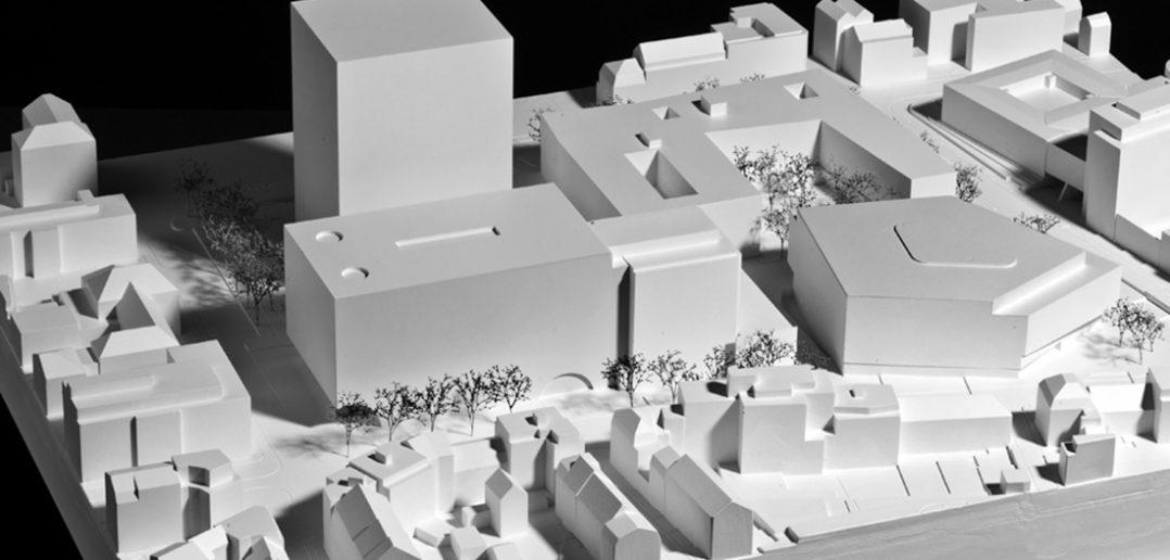 Modellfoto Neubau Departement Biomedizin der Universität Basel © Hochbauamt Basel-Stadt