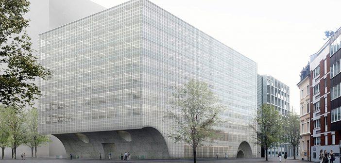 Visualisierung Neubau Departement Biomedizin der Universität Basel © Caruso St John Architects