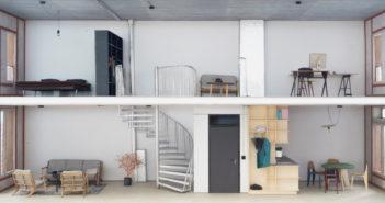Maisonettewohnung © Atelier Abraha Achermann
