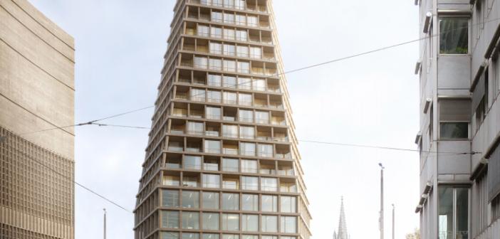 Visualisierung Heuwaage-Hochhaus ©Miller & Maranta