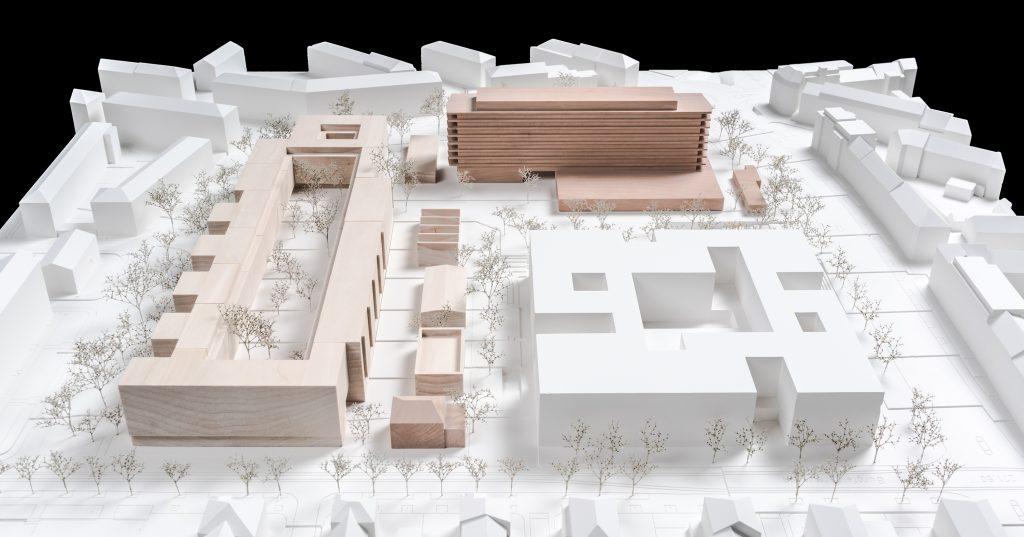 Westfeld im Modell © Enzmann Fischer Partner