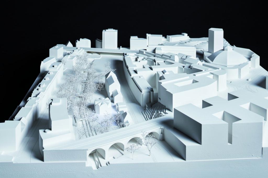 Modell des Siegerprojekts aus der Feder von Vécsey Schmidt Architekten © fotografie roman weyeneth