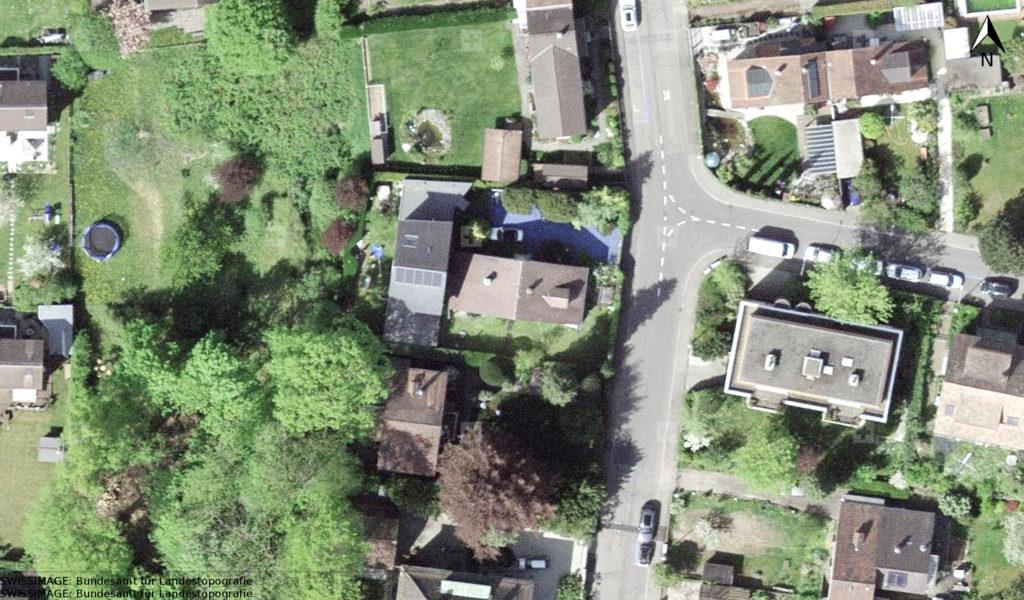 Luftbild Morysrasse 42 © Geodaten Basel-Stadt