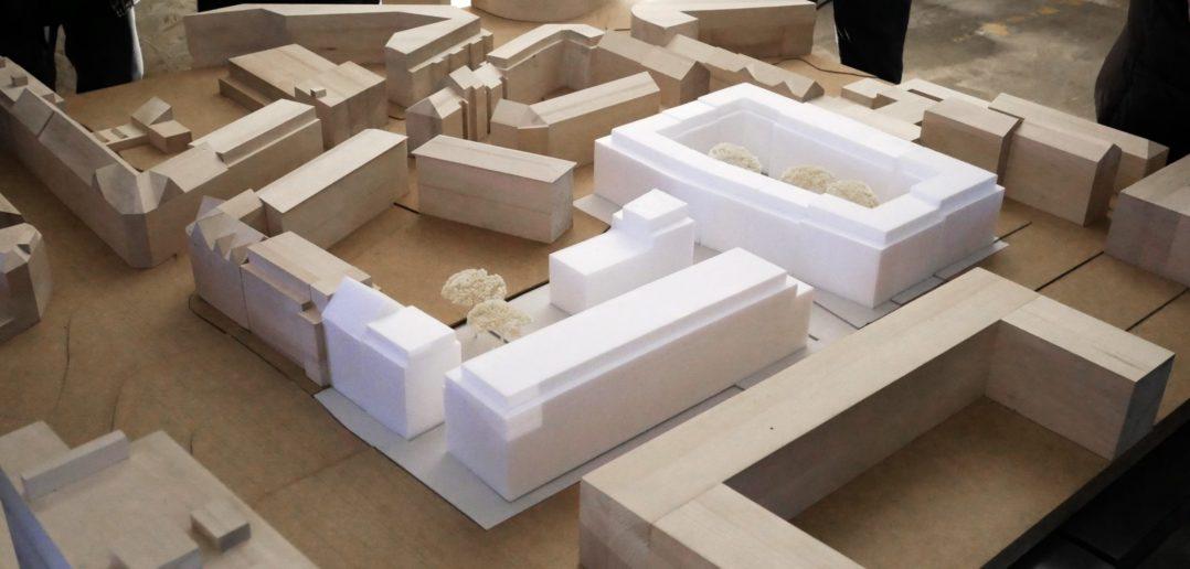 Blick auf das Situationsmodell © Architektur Basel