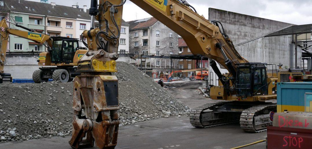 Die Bagger stehen bereit © Architektur Basel