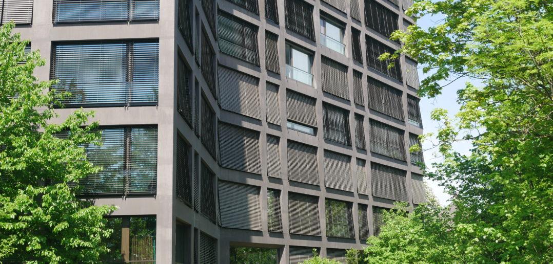 Basler Betonarchitektur: Wohnhaus Schwarzpark von Miller & Maranta Architekten © Architektur Basel