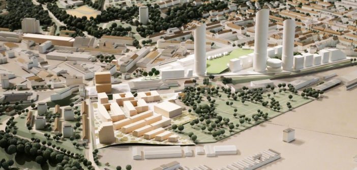 Arealentwicklung Am Walkeweg im Stadtmodell © Architektur Basel