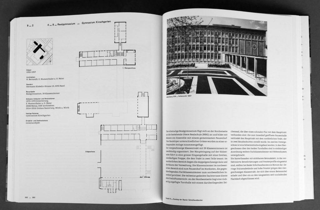 """""""Bauten für die Bildung"""" von Ernst Spycher, 2018 © Christoph Merian Verlag"""