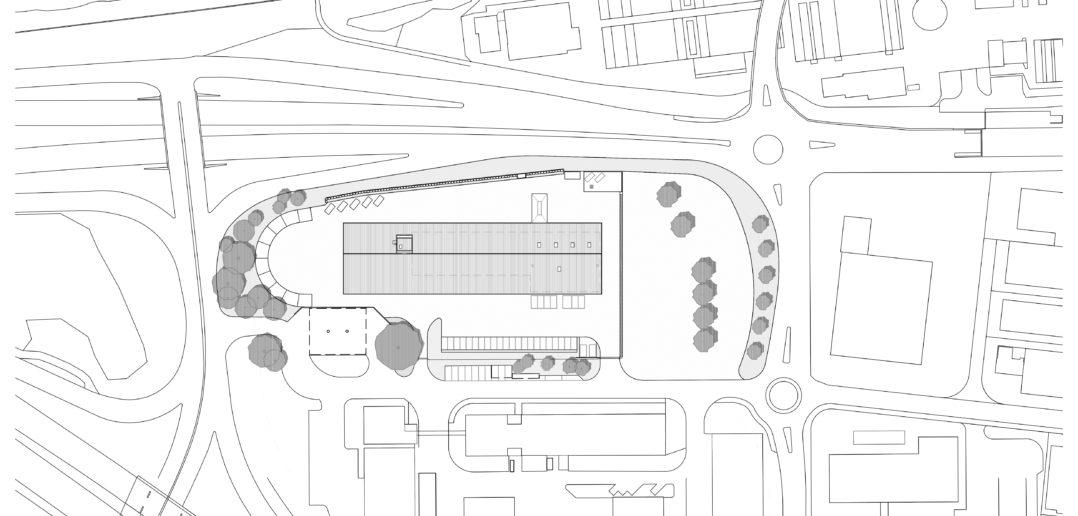 Situation Werkhof Sissach © VOSS Architects Ebeling Architekten