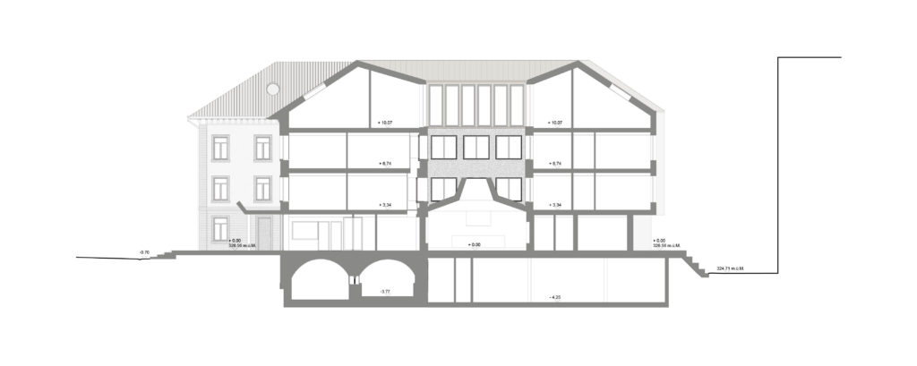 Querschnitt / «QUATTRO» © Demuth Hagenmüller & Lamprecht Architekten GmbH, Zürich