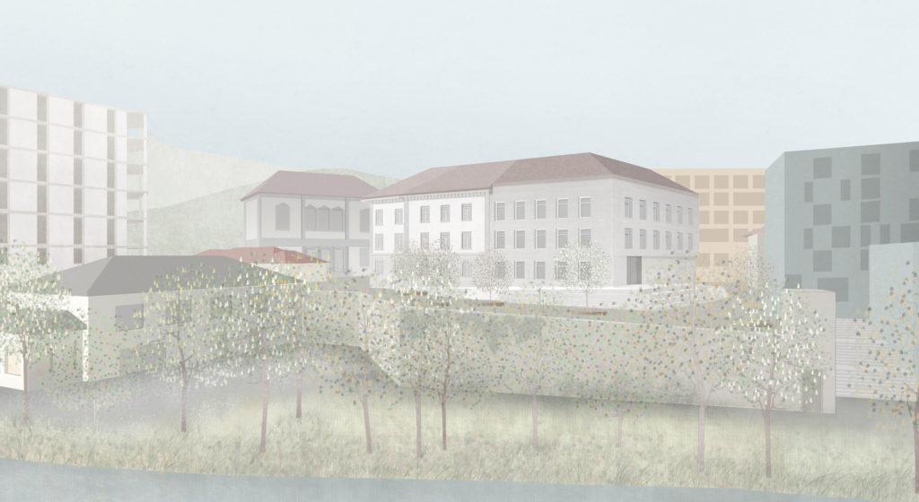 Hangkante des Bahnhofquartiers / «QUATTRO» © Demuth Hagenmüller & Lamprecht Architekten GmbH, Zürich