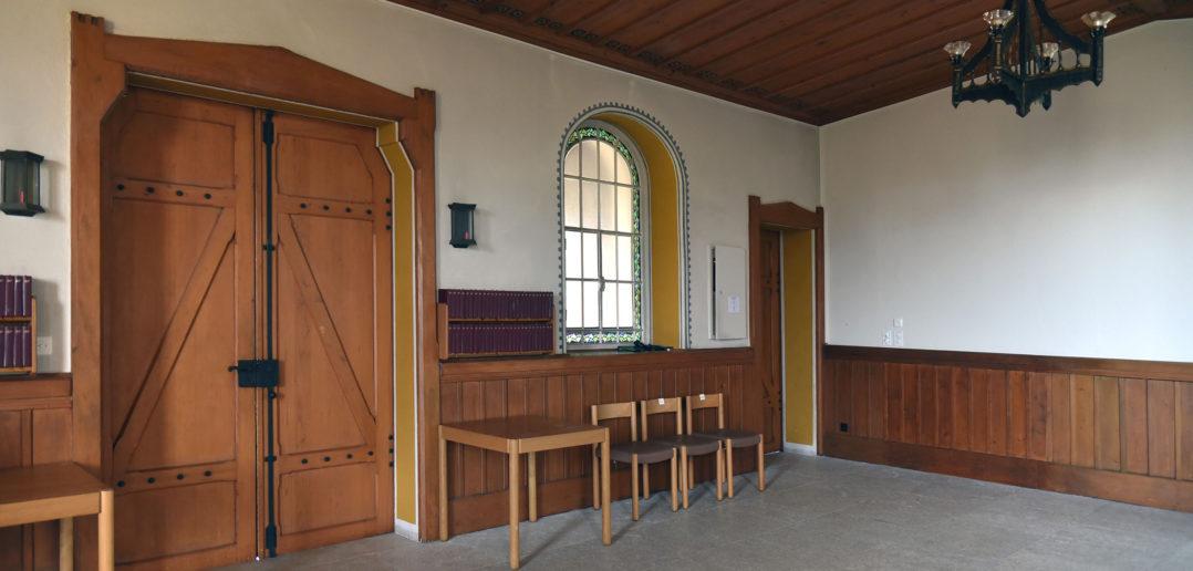 Durchgang zur Vorhalle, Reformierte Kirche Arlesheim © Simon Heiniger / Architektur Basel
