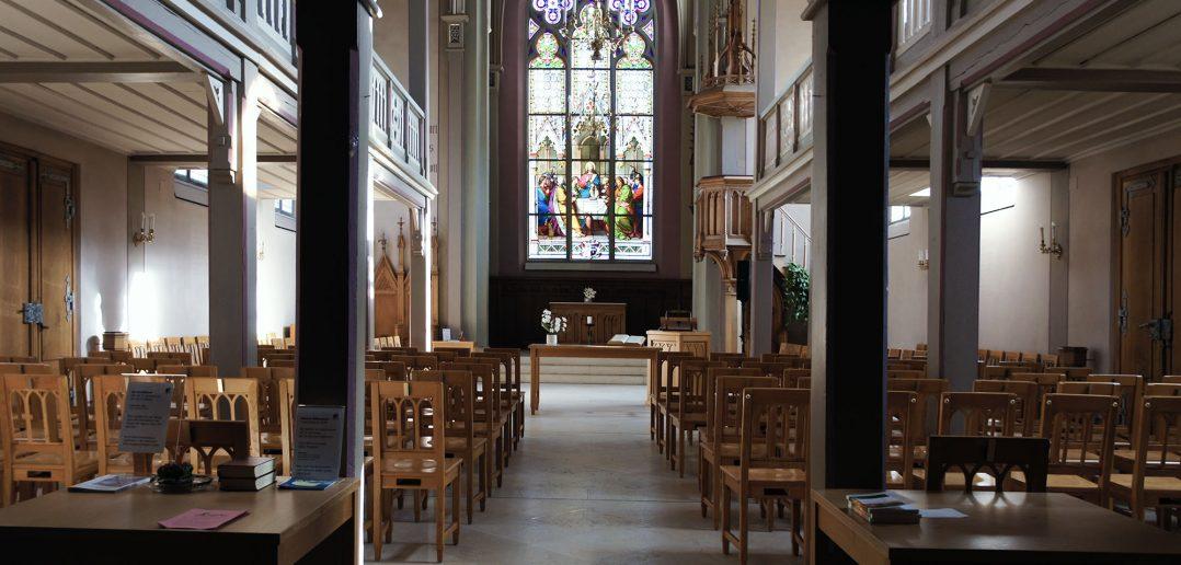 Reformierte Kirche St. Martin, Innenraum, Kilchberg BL © Architektur Basel