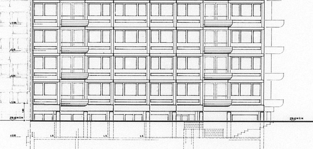 Südfassade Wohnhaus Wielandplatz © Burckhardt+Partner