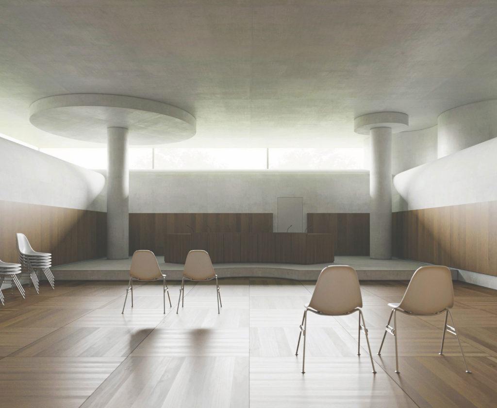 Gerichtssaal mit Oblicht © Notaton