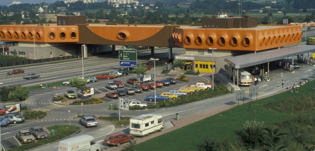 Autobahnraststätte «Windrose», Pratteln ohne Jahrgang, Fotograf: Hans Leu STABL_VR_3317_F8.N2_001-05_004, Staatsarchiv Basel-Landschaft