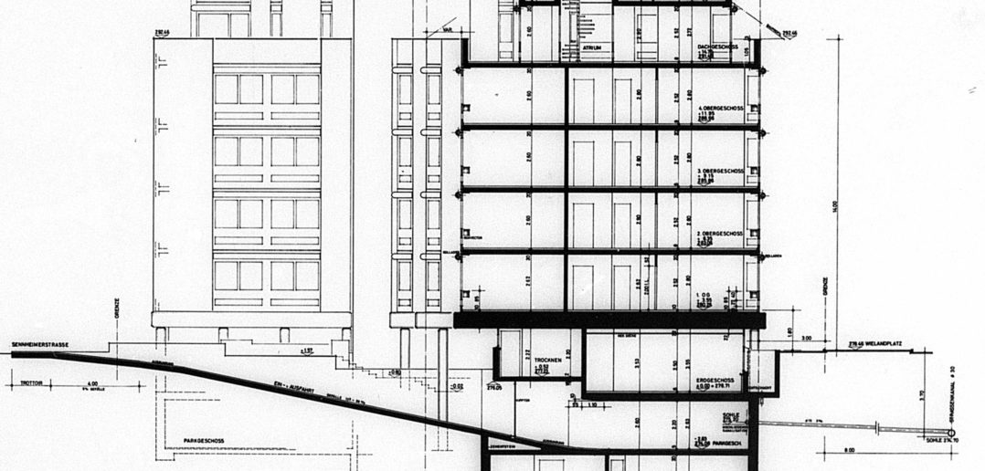Schnitt Wohnhaus Wielandplatz © Burckhardt+Partner