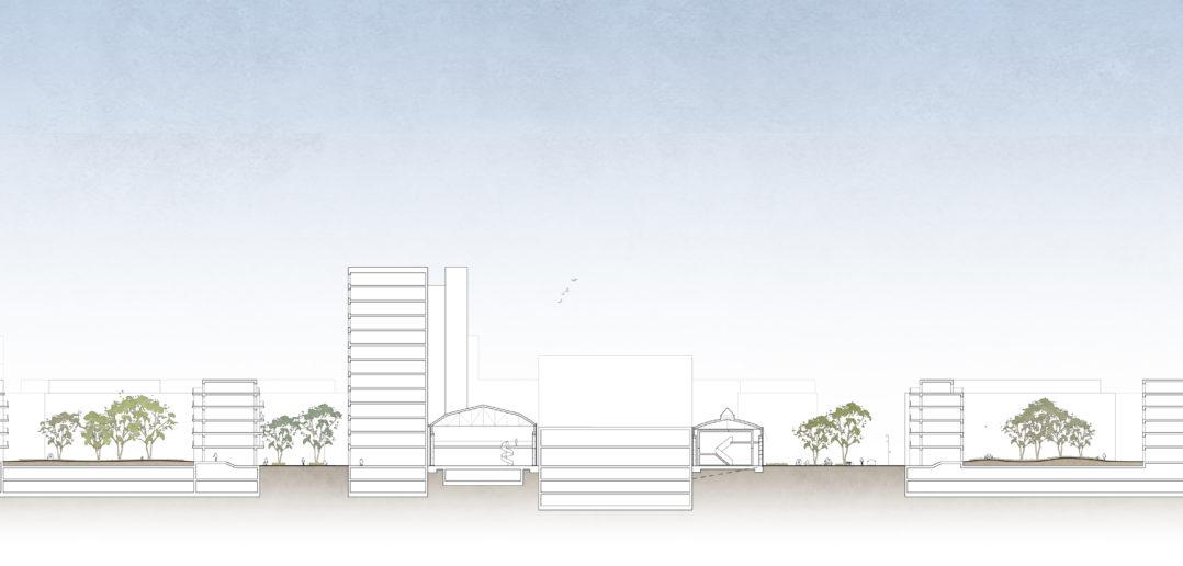 Schnitt A-A, Bredella AG (Pläne: Burckhardt+Partner AG)