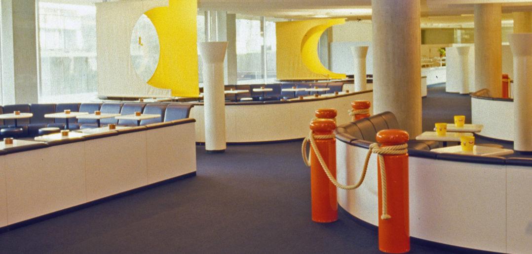 Farbenfrohe Innenausstattung, ehemaliges Bürohaus Schoren, Bild: Burckhardt+Partner AG Architekten Generalplaner