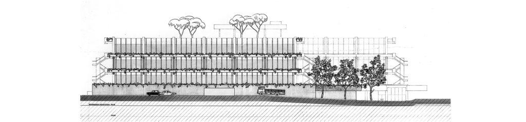 Nordfassade, Plan: Burckhardt+Partner AG Architekten Generalplaner