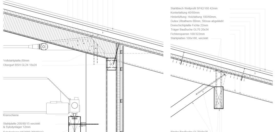 Planausschnitt Werkhof Sissach © VOSS Architects Ebeling Architekten