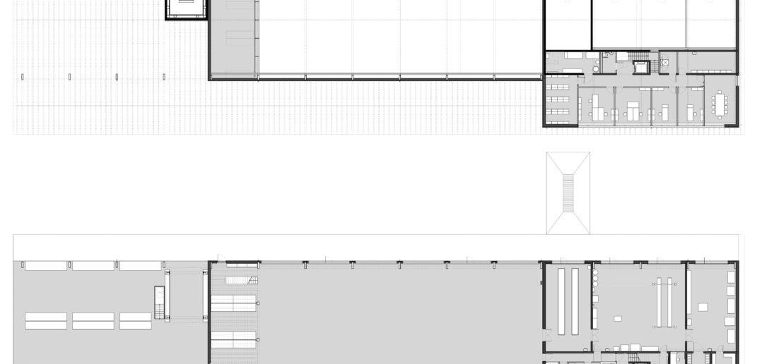 Grundrisse Werkhof Sissach © VOSS Architects Ebeling Architekten