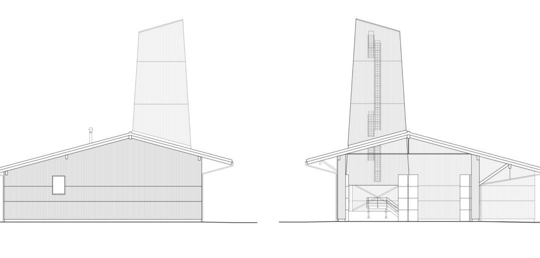 Kopffassaden Werkhof Sissach © VOSS Architects Ebeling Architekten